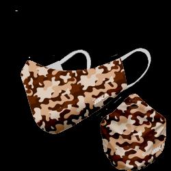 Mascarilla camuflaje marrón