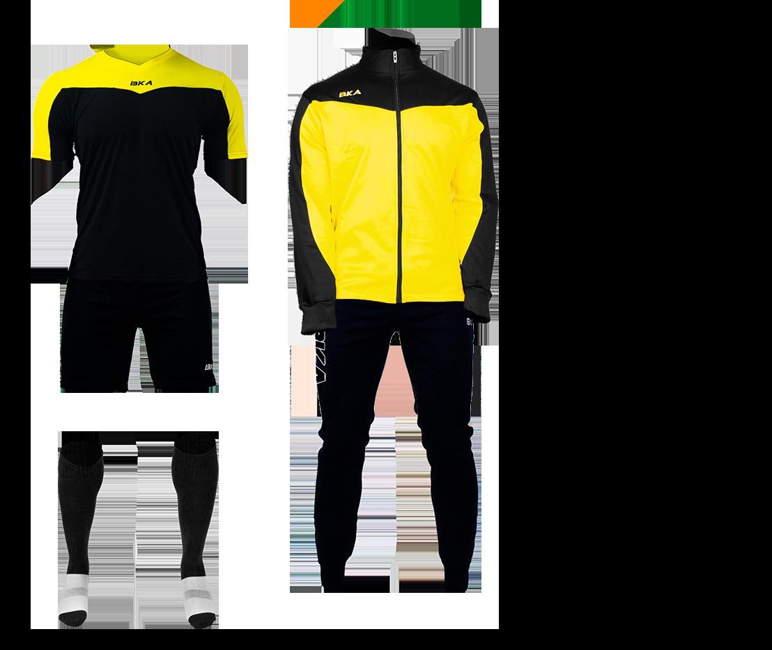 pack juego amarillo negro