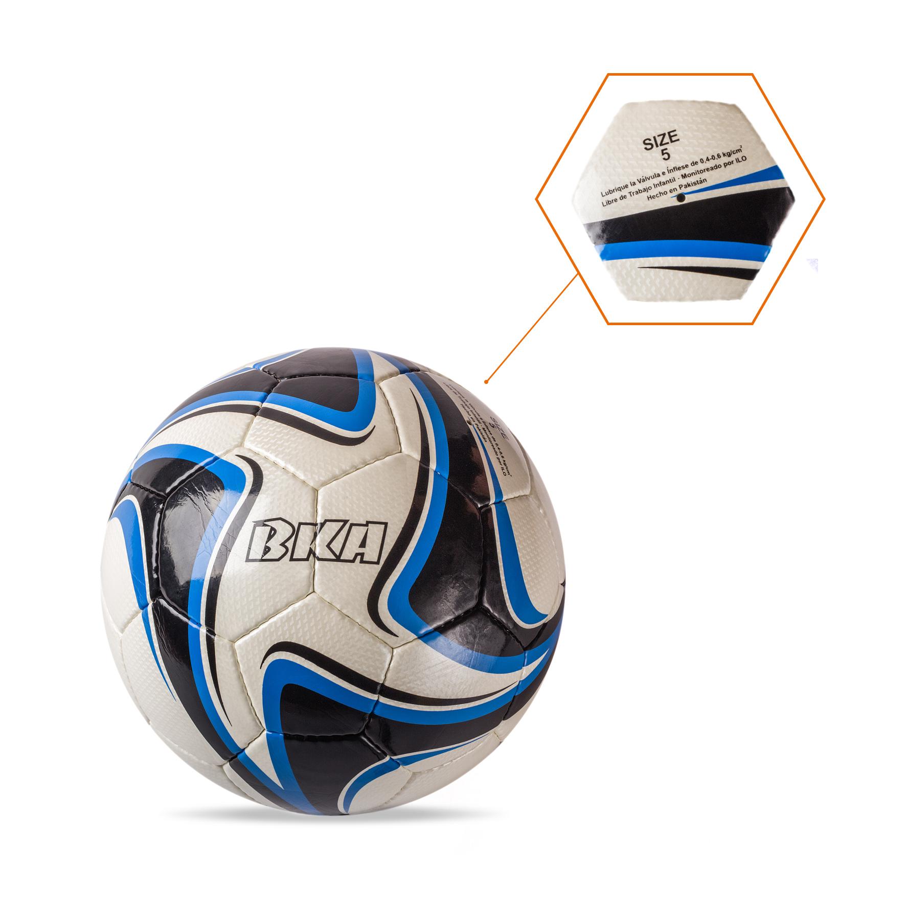 Balón Blanco-Negro-Azul