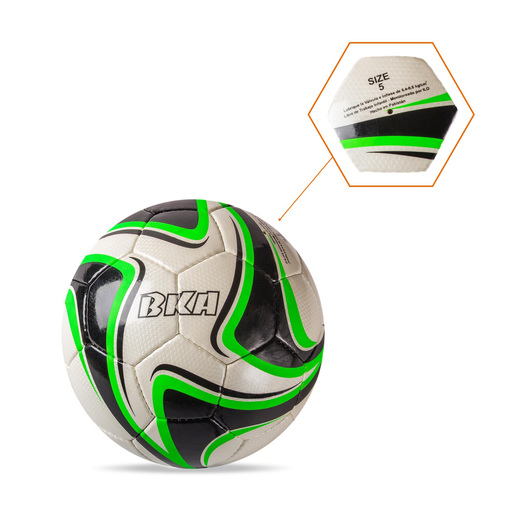Balón Blanco-Negro-Verde