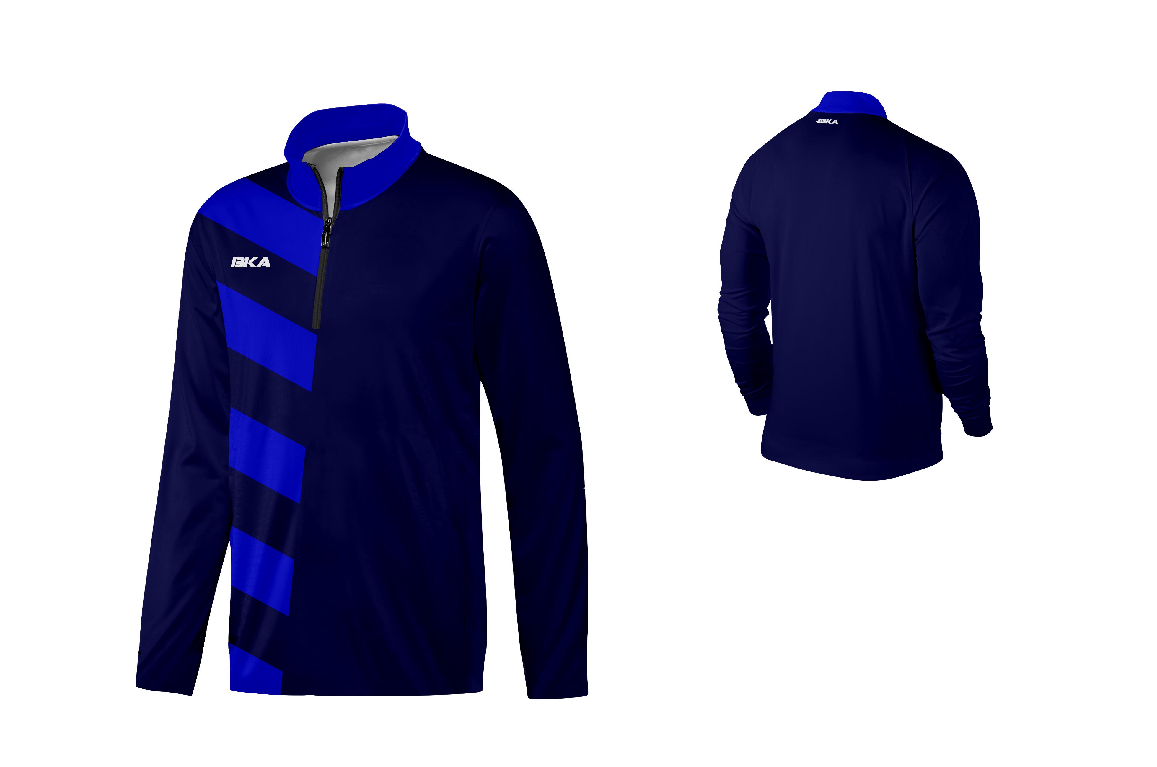 SUDADERA BKA DORTMUND azul marino-azul royal