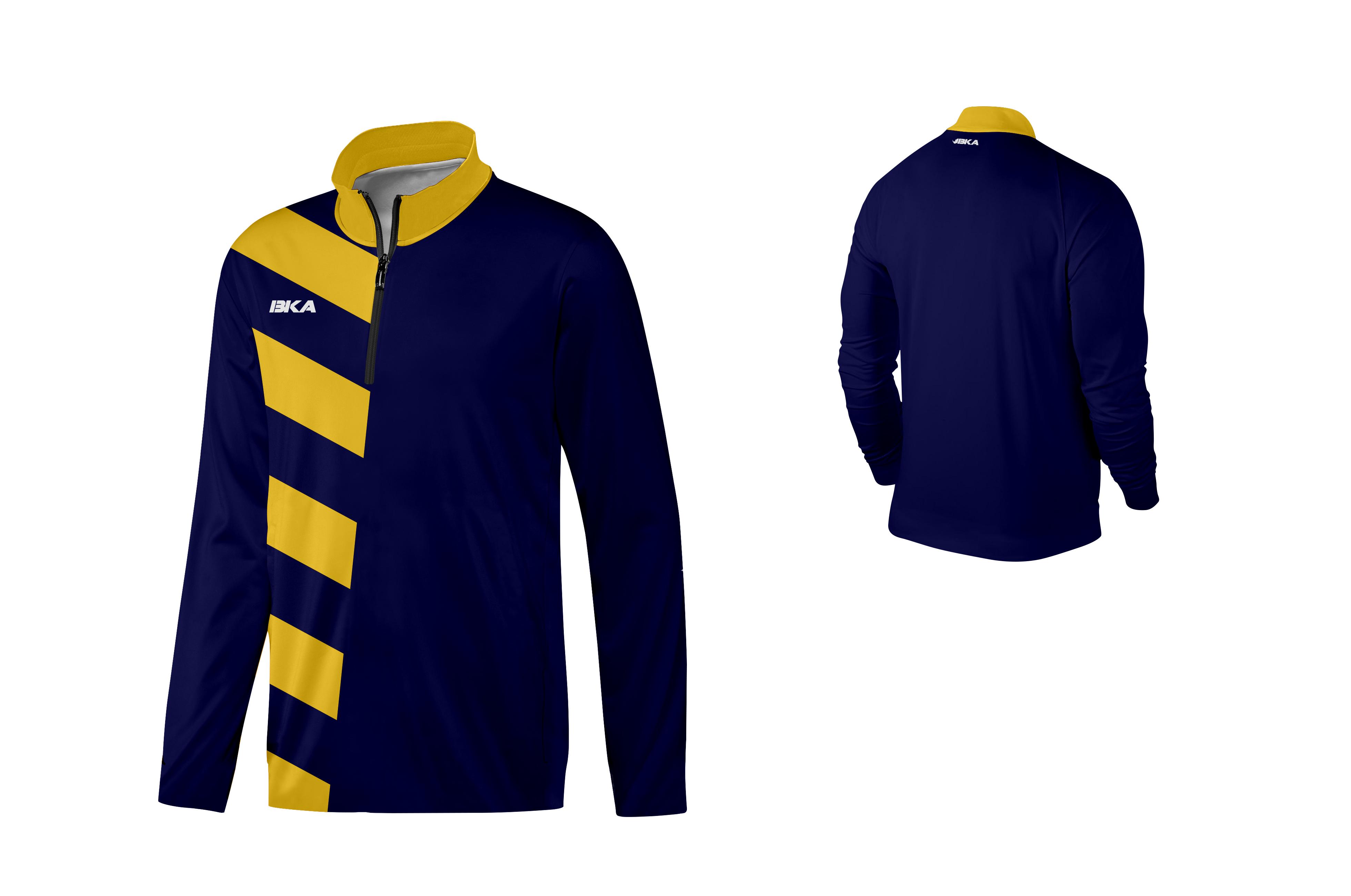 SUDADERA BKA DORTMUND azul marino-amarillo