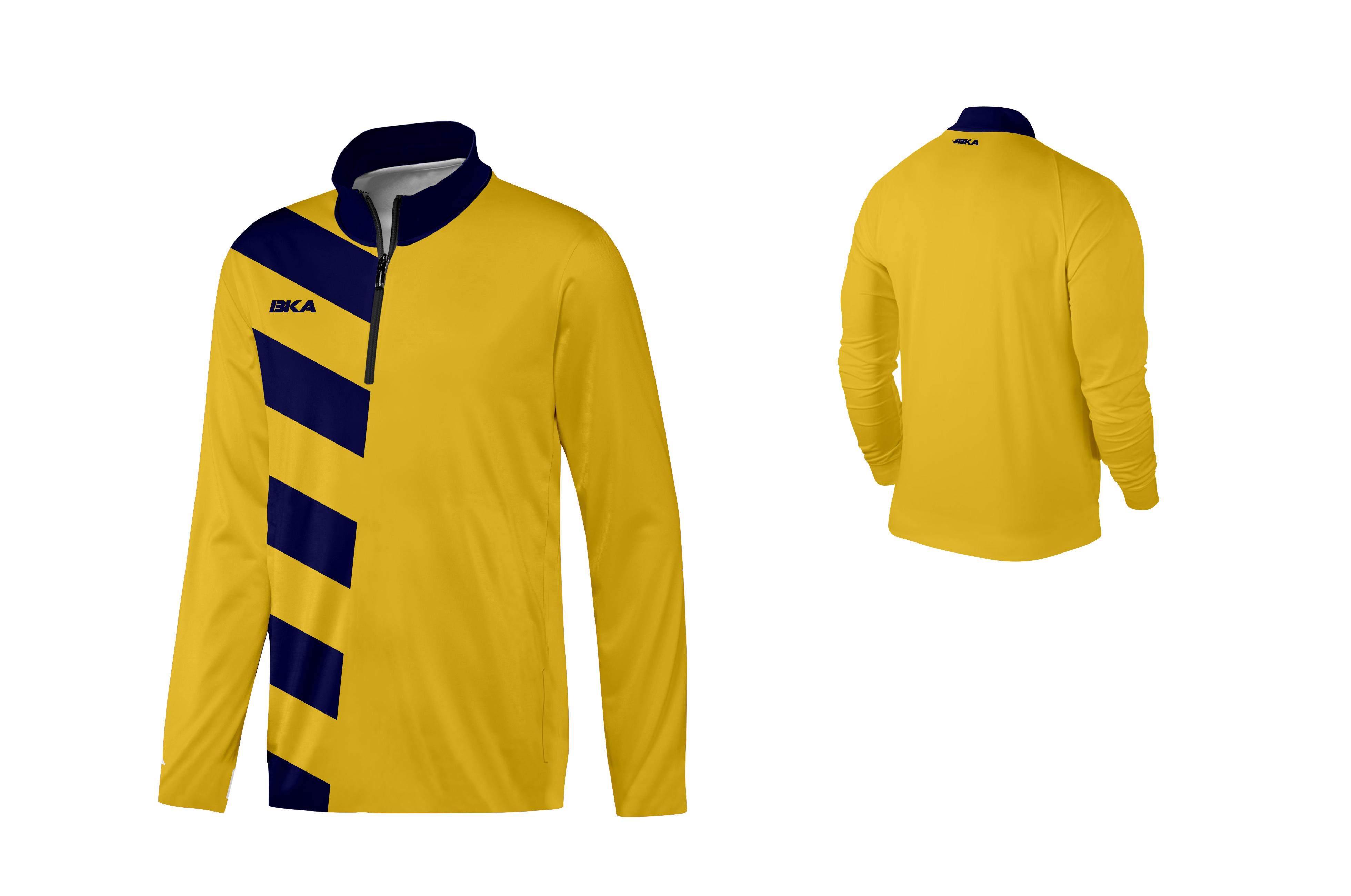 SUDADERA BKA DORTMUND amarillo-azul marino