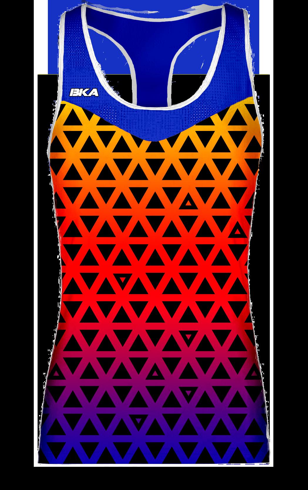 triangulos azul